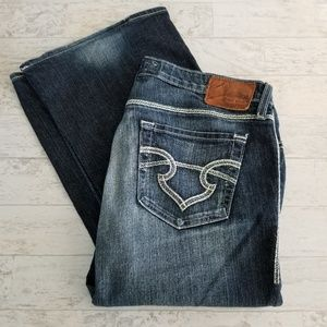 Big Star Maddie Bootcut Distressed Jeans Size 31L